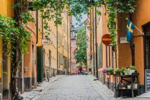 Gasse in der Altstadt von Stockholm