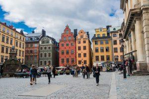 Der alte Marktplatz im Stadtzentrum von Stockholm