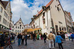 In der Unterstadt von Tallinn (Reval)