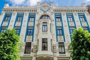Fassade von Michael Eisenstein in Riga