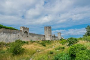 Stadtmauer in Visby auf Gotland