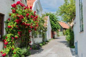Strasse in Visby auf Gotland