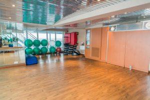 Gymnastik- und Fitnessraum auf MS Europa