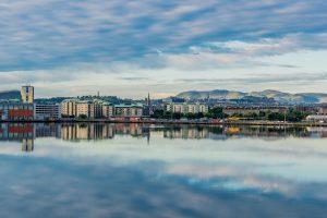 Der Hafen von Leith bei Edinburgh