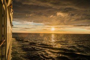 Sonnenuntergang im Englischen Kanal, Englischer Kanal