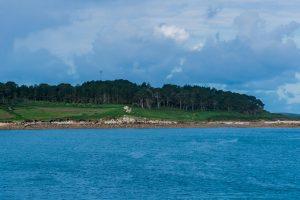 Anfahrt auf die Küste der Insel Tresco auf den Scilly Inseln