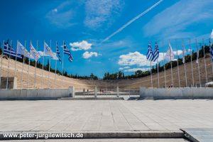 Das anitike Olympiastadion in Athen