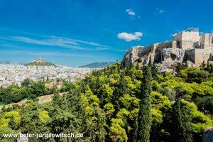 Auf dem Areshügel in Athen