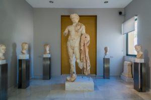 Kouros Statue im Museum in Pythagorio auf Samos