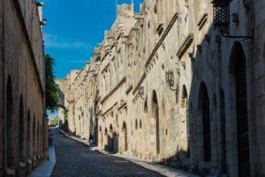 Die Ritterstrasse in Rhodos Stadt auf der Insel Rhodos