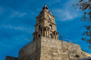 Uhrturm in Rhodos Stadt