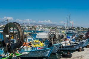 Im Hafen von Paphos auf Zypern