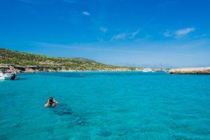 Baden in der Chrysouchou Bucht auf Zypern