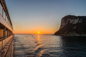 Sonnenaufgang vor Capri