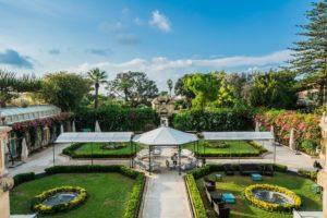 Gärten des Parisio Palastes auf Malta