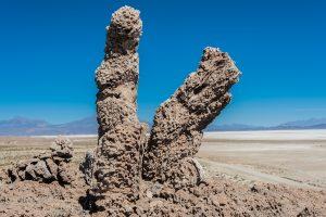 Salzsäulen an der Galaxy Höhle