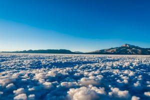 Abendstimmung auf dem größten Salzsee der Erde