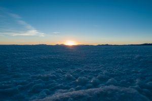 Sonnenuntergang auf dem größten Salzsee der Erde