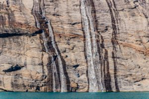 Wasserfall im Prins Christian Sund