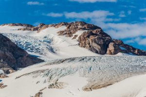 Abgetauter Gletscher im Prins Christian Sund
