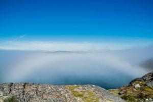 Nebelbogen über der Bucht von Nuuk