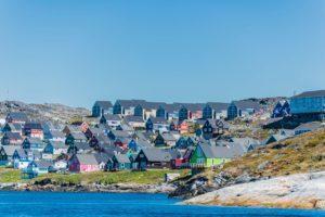 DIe Hauptstadt Nuuk auf Grönland