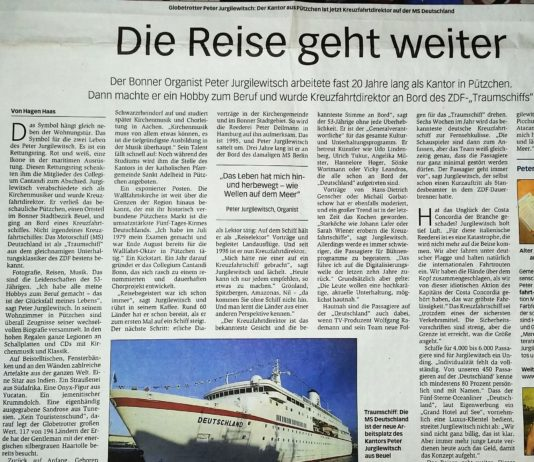 Peter Jurgilewitsch ist Kreuzfahrtdirektor auf dem Traumschiff