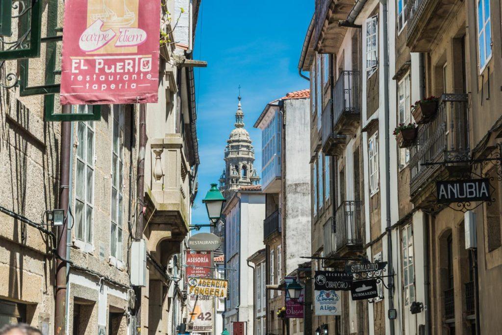 Strasse in Santiago de Compostela