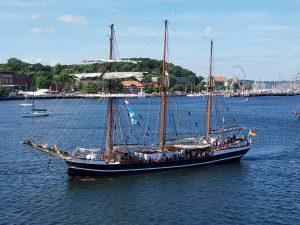 Der Segner Thor Heyerdahl auf der Kieler Woche