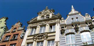 Fassaden auf dem Königsweg in Danzig