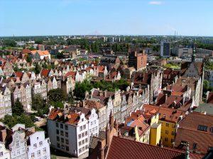 Aussicht auf Danzig in Polen