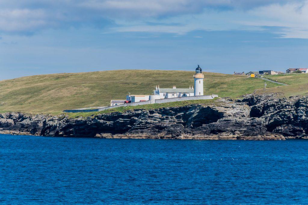 Leuchtturm bei Lerwick auf den Shetland Inseln