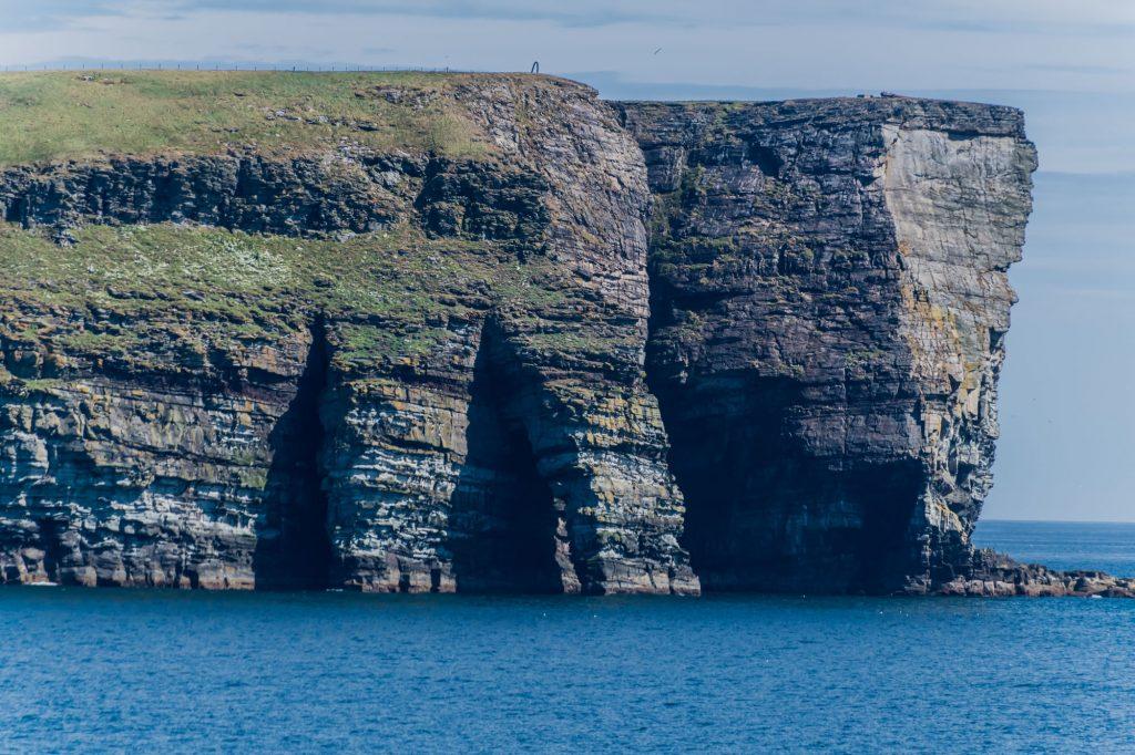 Bizzare Küstenform der Shetland Inseln