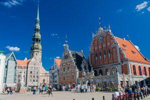 Das Schwarzhäupterhaus und die Petrikirche