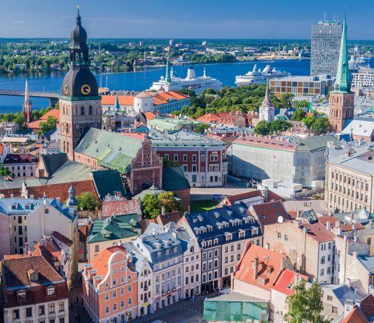 Riga vom Turm der Petrikirche aus gesehen