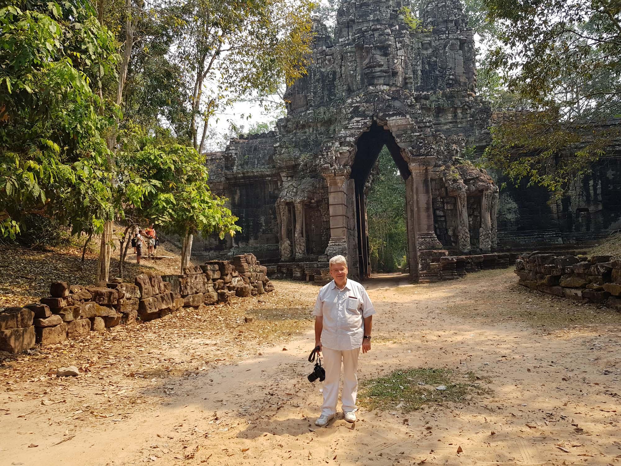 Peter Jurgilewitsch in Angkor Wat/Kambodscha