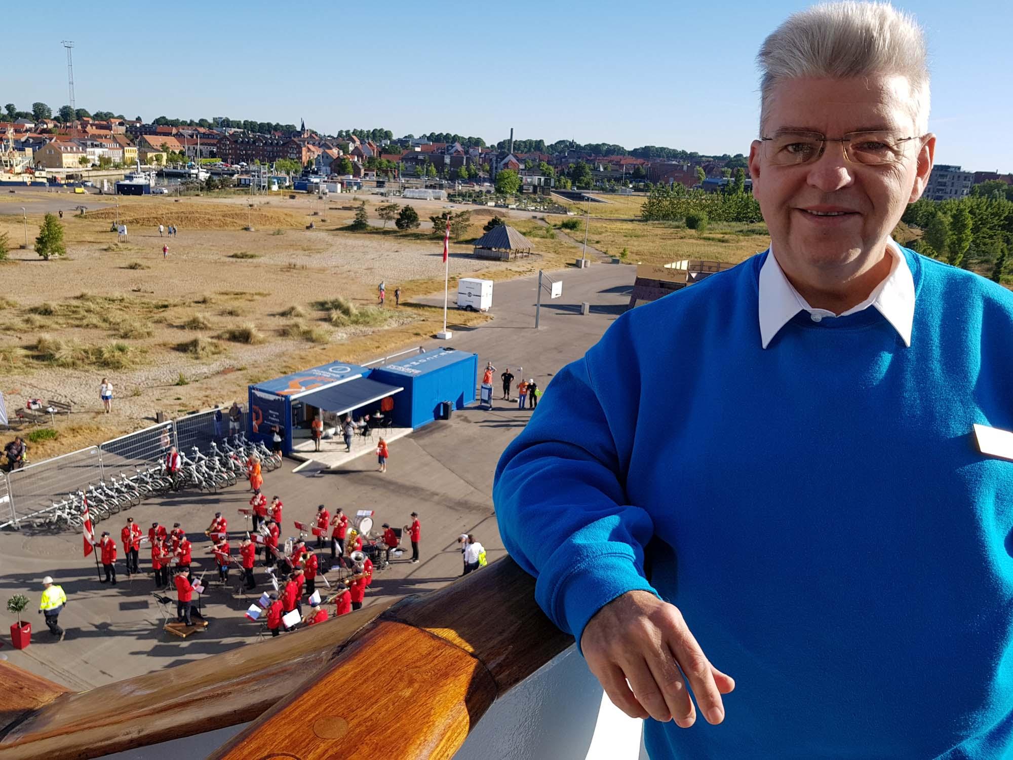 Peter Jurgilewitsch im Hafen von Fredericia in Dänemark