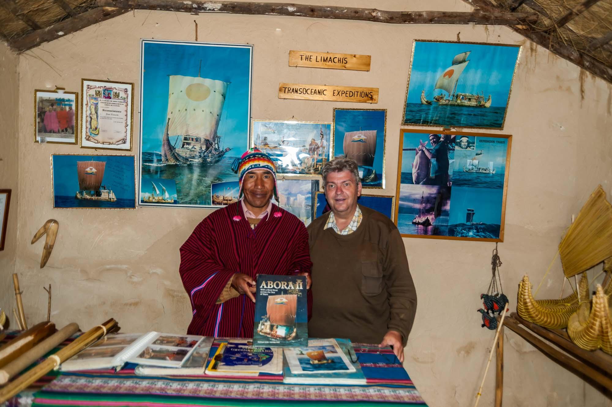 Peter Jurgilewitsch mit einem der beiden Limachi Brüder in Huatajata/Bolivien