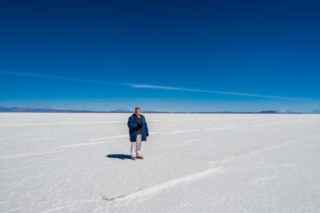 Peter Jurgilewitsch auf dem Salar de Uyuni in Bolivien (3653 m)