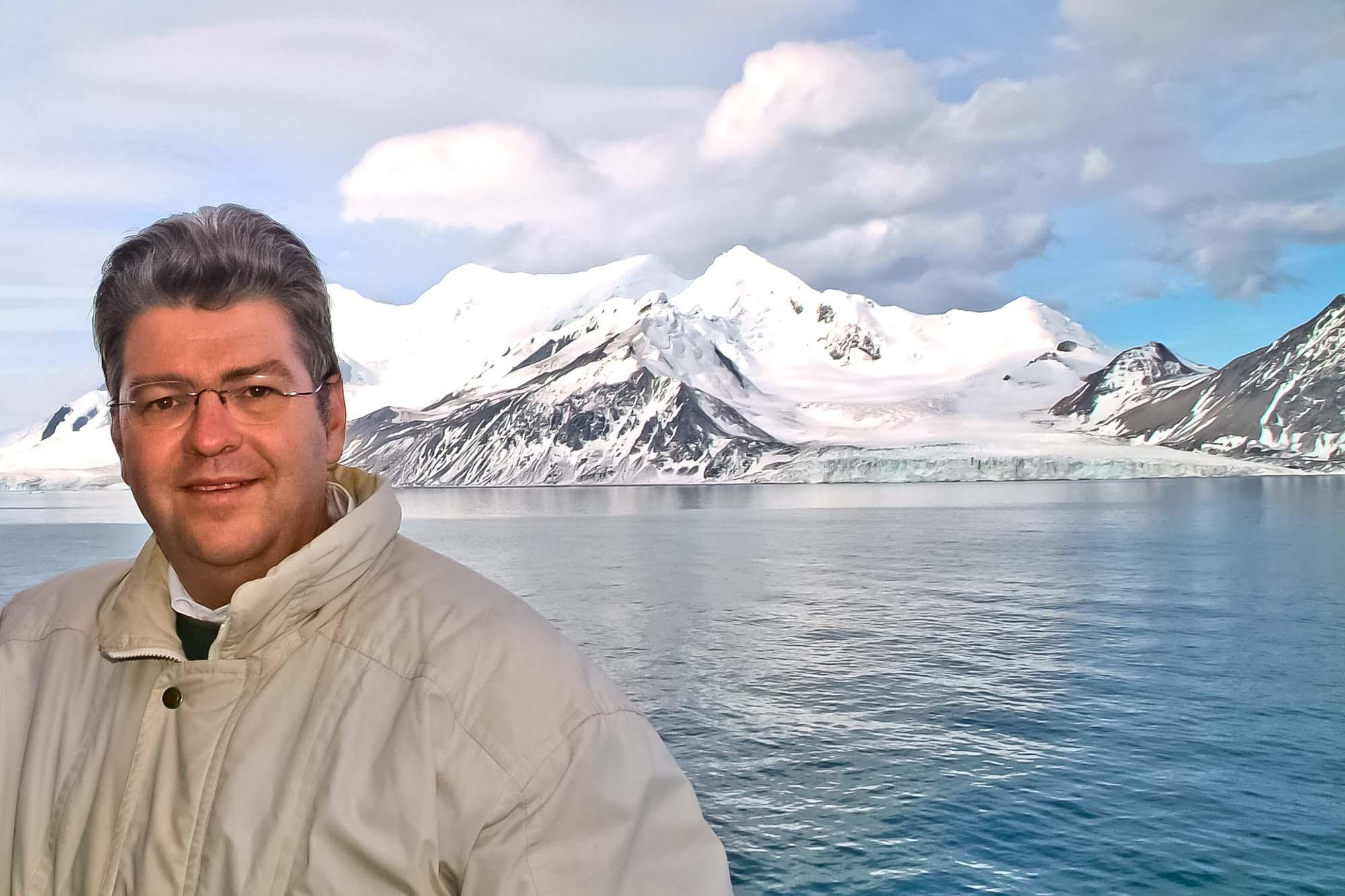 Peter Jurgilewitsch vor Livingston Island/Antarktis