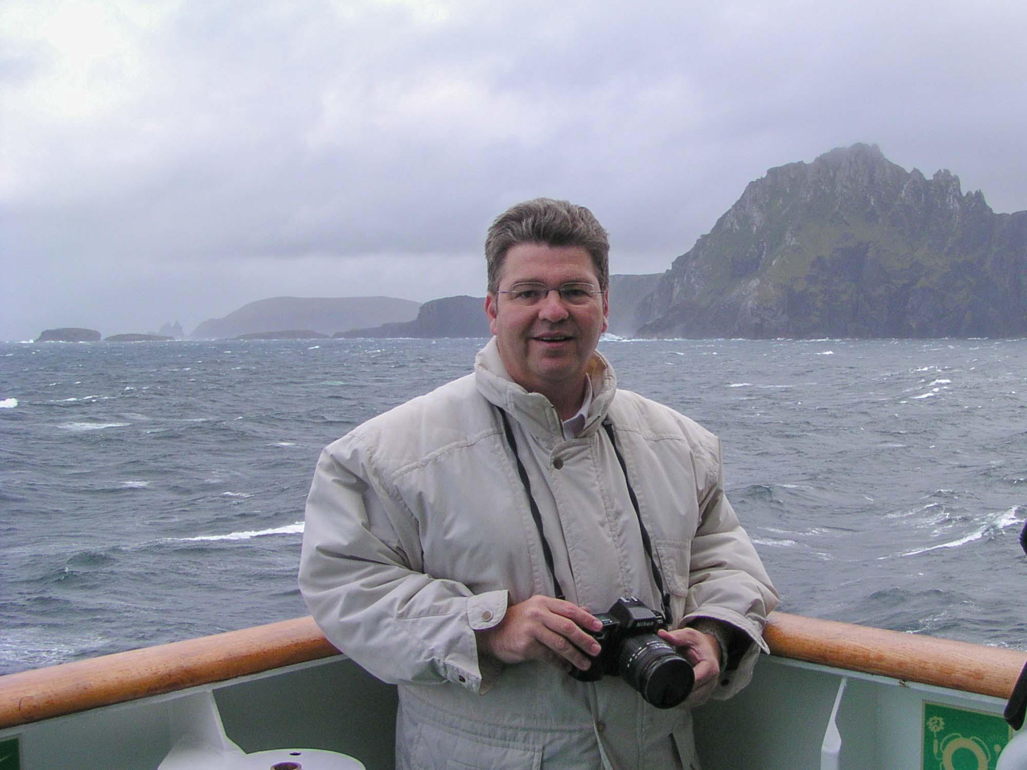 Peter Jurgilewitsch vor Kap Hoorn, Chile