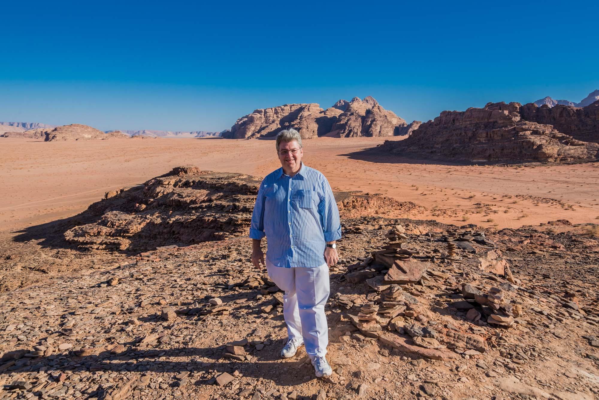 Peter Jurgilewitsch im Wadi Rum in Jordanien