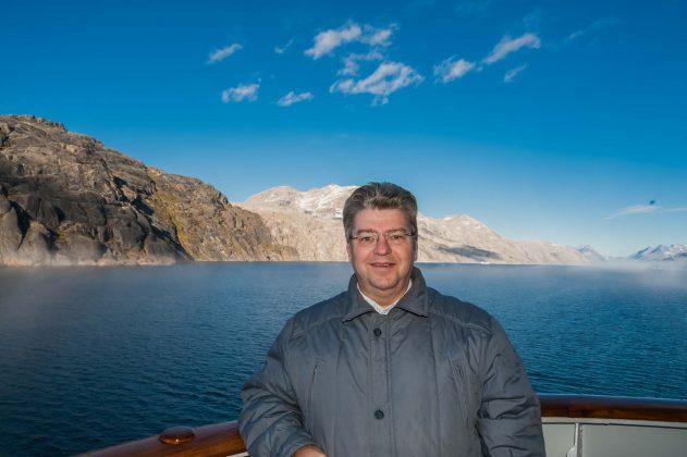 Peter Jurgilewitsch im Prins Christian Sund auf Grönland