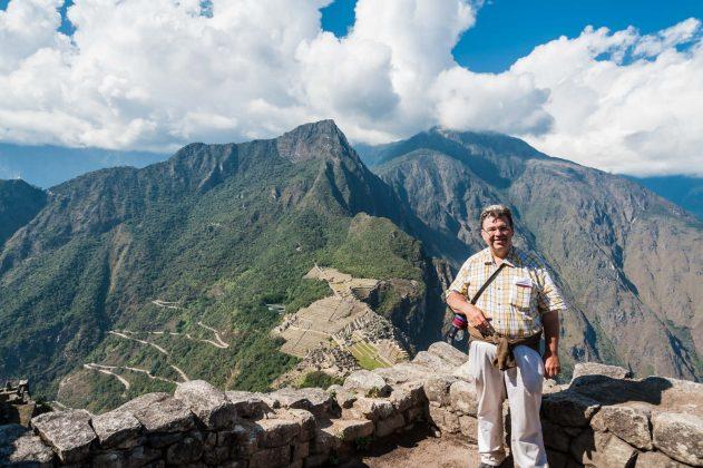 Peter Jurgilewitsch auf dem Huayna Piccu in Peru