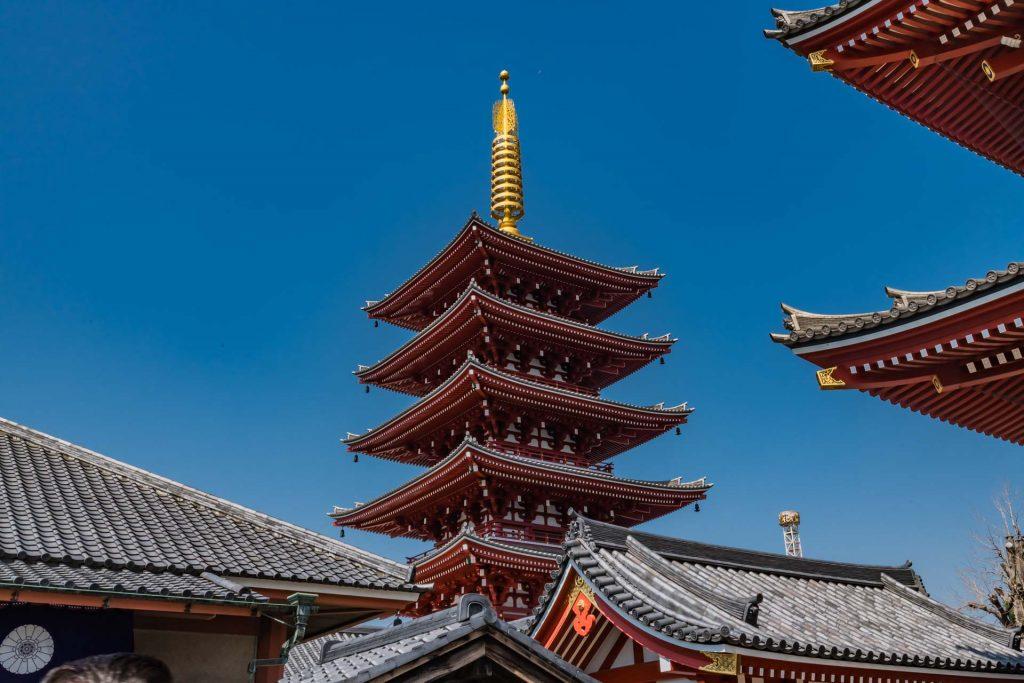 Die Pagode des Asakusa Tempels in Tokio