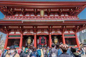 Der Asakusa Te,pel in Tokio
