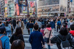 Die größte Stadt der Welt hat Shibuya, die größte Kreuzung der Welt