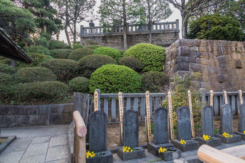 Shogun-Gräber im Sengakuji-Tempel in Tokio