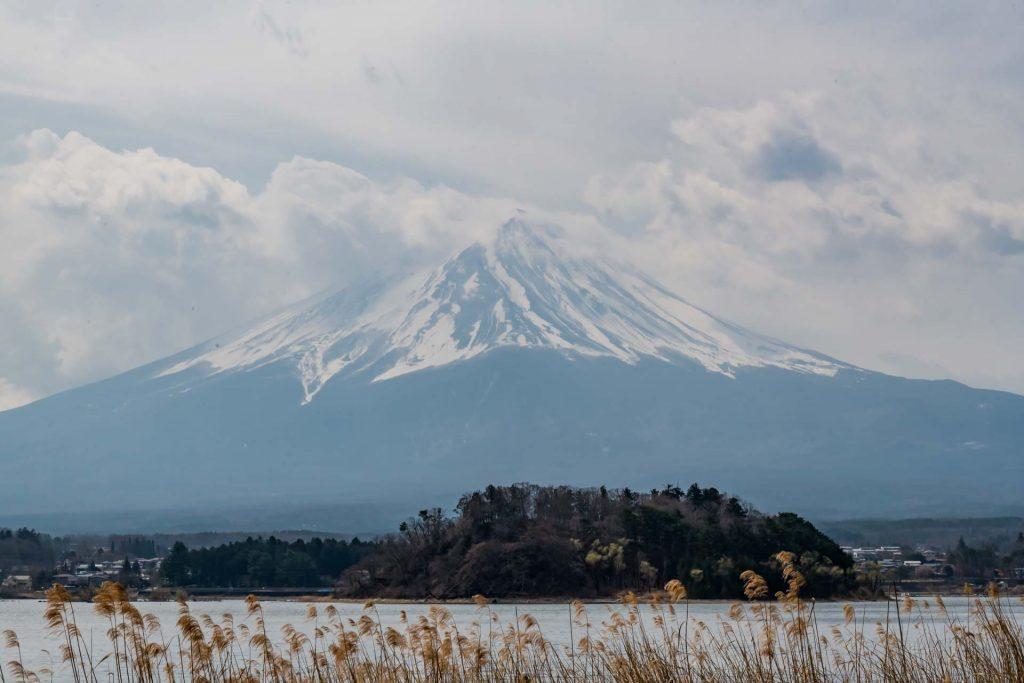 Der Fujisan, Mount Fuji in Japan