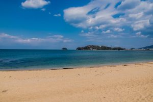 Strand auf der Insel Shikoku